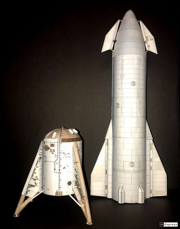 SpaceX Starship – AXM Paper Space Scale Models.com