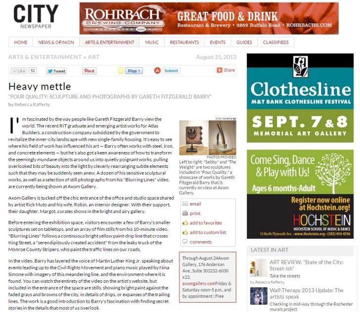 Heavy mettle - Art - Rochester City Newspaper.url_1