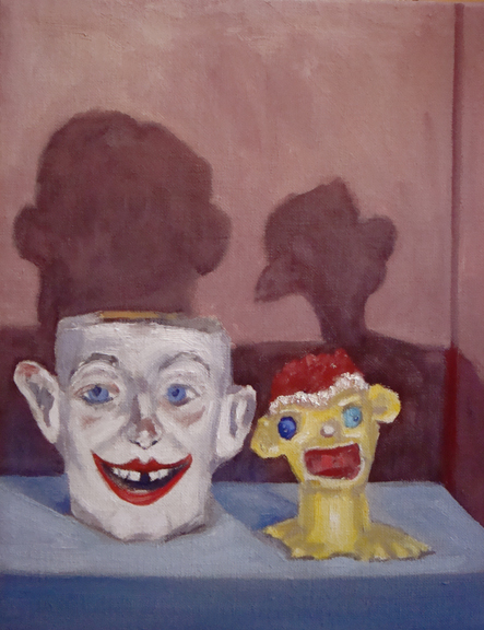 """Handsome Men (from the Objects of My Affection series) by Lin Price, oil on linen, 12"""" x 14"""""""