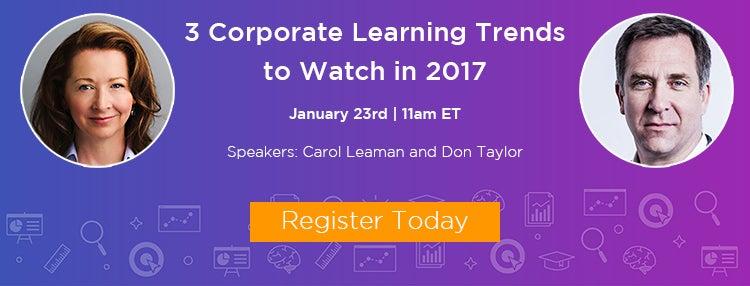 Corporate Learning Trends 2017 Webinar