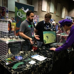 Jeff and James explaining Quench to a player at Con Bravo.