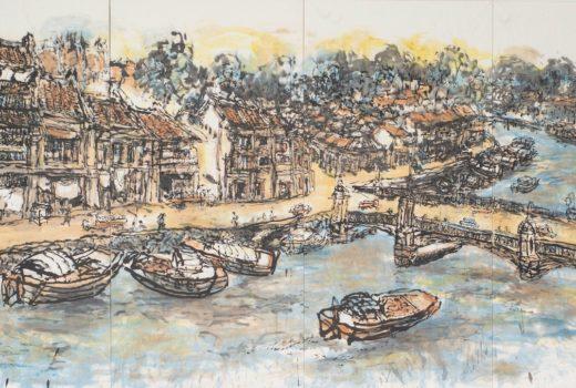 Pg 136 06 244 x 488 cm Singapore River SOLD
