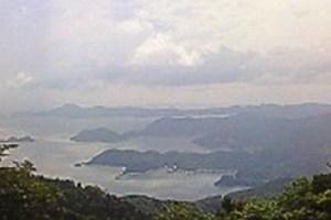 柏峠より望む宇和島