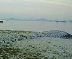 星の浦海浜公園からの風景。
