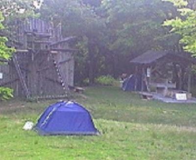 新居浜市民の森にキャンプIN。