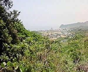 鎌大師~菊間からの上り坂から望む景色。