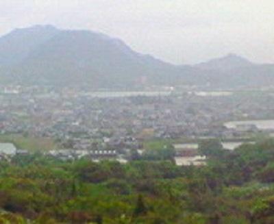 石鎚休憩所から高松市(旧国分寺町)を眺める。