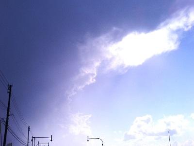晴天と暗雲のはざま。