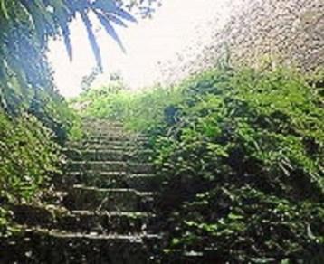 2009/07/07 08:54 中城城の井戸の階段