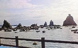 2009/09/09 09:17 橋杭岩なう
