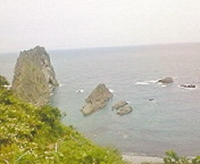 2010/08/25 09:30 神威岬のチャレンカの小道より望む