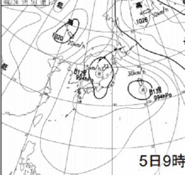 0905地上天気図