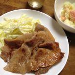 13日 生姜焼き