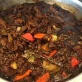 Black pepper beef!!