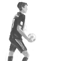 モノクロ サッカー