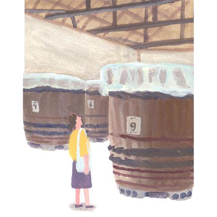 味噌屋さんの木樽