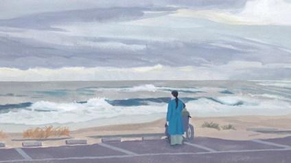 海 曇り 男性 女性