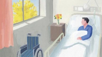 病室 男性 車椅子
