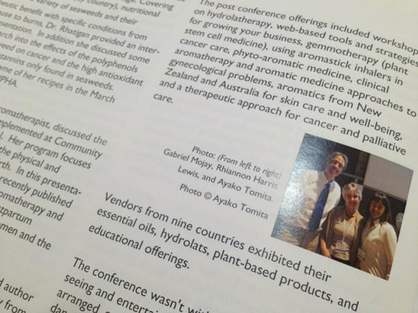 Botanica2012のレポートには私のクレジットで写真も掲載いただきました!リアノンとガブリエルとスリーショット。