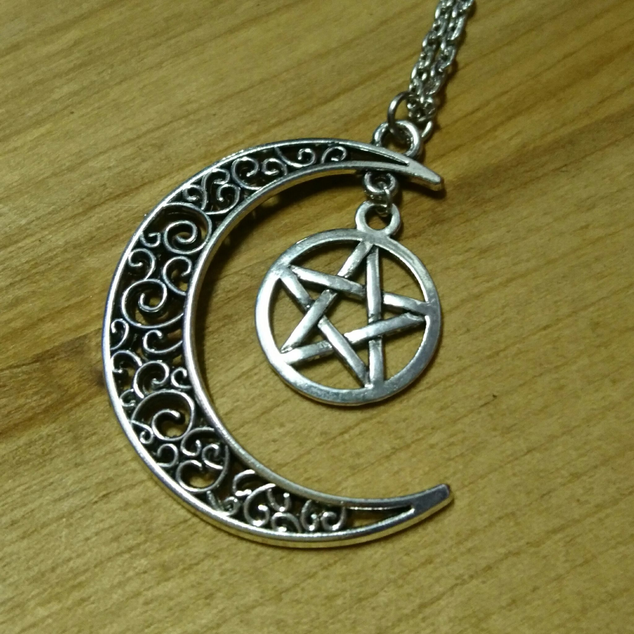 Ayame Designs pentacle moon necklace