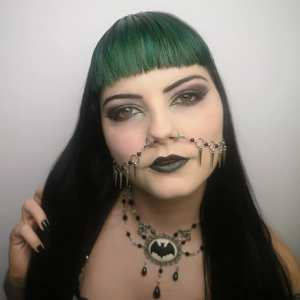 Ayame Designs handcrafted spiked nose to ear chain