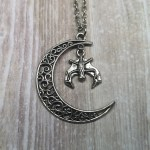Ayame Designs bat moon necklace
