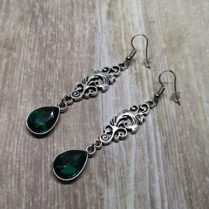Ayame Designs handcrafted elegant gothic filigree earrings