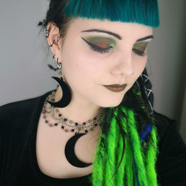 Ayame Designs handcrafted gothic moon jewellery set