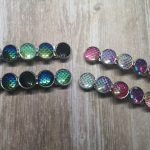 Ayame Designs handcrafted mermaid scale hair barrette