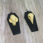Ayame Designs handcrafted gothic skull coffin necklace