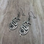 Ayame Designs handcrafted snake earrings