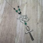 Ayame Designs handcrafted gothic Egyptian inspired necklace