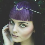 Ayame Designs handcrafted beaded moon circlet / head chain