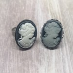 Ayame Designs stainless steel cameo adjustable ring