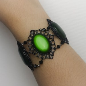 Ayame Designs handcrafted gothic beaded bracelet