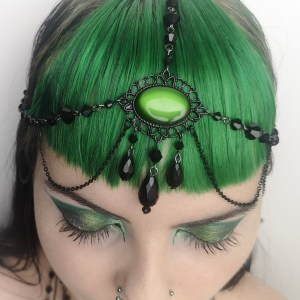 Ayame Designs handcrafted gothic beaded circlet