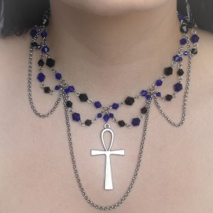 Ayame Designs handcrafted gothic ankh necklace