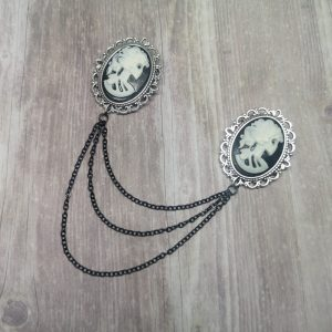 Ayame Designs handmade gothic collar pin