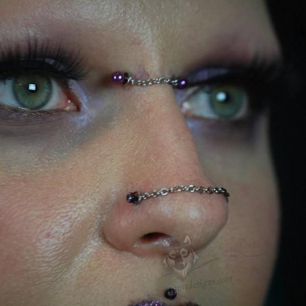 gothic nose bridge chains