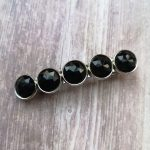 Ayame Designs handcrafted faceted cabochon hair barrette