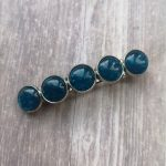 Ayame Designs handcrafted resin cabochon hair barrette