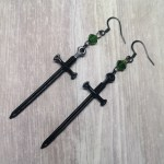 Ayame Designs handcrafted gothic sword earrings