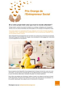 flyer Prix Orange de l'entrepreneur social 2016
