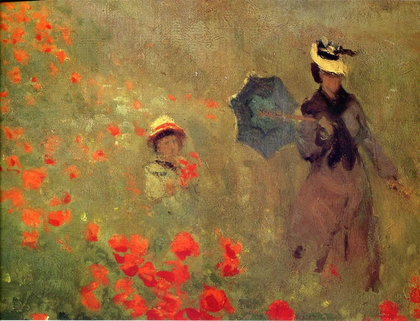 Poppies At Argenteuil Close Up