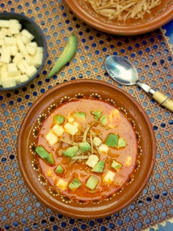 De Mexicano Sopa Tortilla Estilo