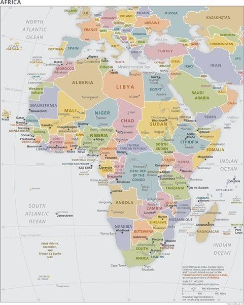 アフリカ 地図 4 国別