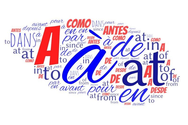 前置詞 スペイン語(フランス語英語比較)