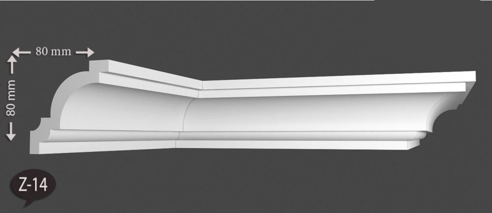 100 Meter Stuckleiste Dekorprofile Eckleiste Decke Styropor XPS Stuck 42x50 E-31