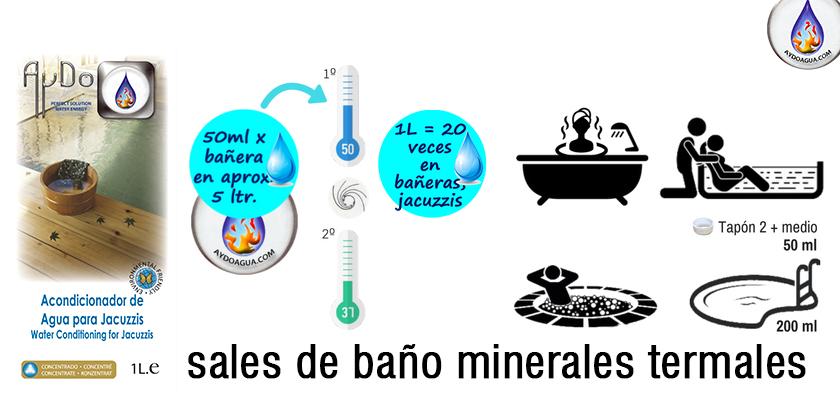 Sales de baño minerales eco detox termal-aydoagua.com