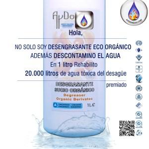 Desengrasante ecologico ORGANICO descontamino agua 1Lx20.000L aydoagua